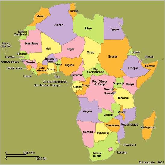 cartedel'afrique