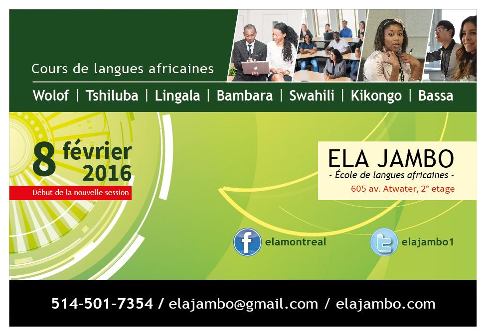 ELA jambo - Session hiver 2016