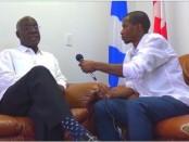 Le député fédéral de Bourassa, Emmanuel Dubourg (à gauche)