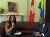 À droite: Sosthène Ngokila, Ambassadeur du Gabon au Canada