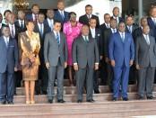 Le gouvernement gabonais en août 2017
