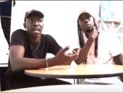 Les frères M'baye: Moussa  (à gauche) et Ablaye (alias Skandal) du groupe Degg J Force 3 lors de leur passage à Montréal en juillet 2018