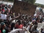 Les manifestants ont marché du Pk 5 au siège de la Minusca où un mémorandum a été remis au représentant du Secrétaire Général des Nations-Unies. Crédit photo: Getty images