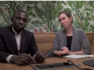 François Awwounkeu, Représentant CUSO au Cameroun et Caroline Tessier, chargée de la sensibilisation et des partenariats, CUSO International, Québec
