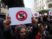Manifestations contre le 5eme mandat du président algérien Abdelaziz Bouteflika