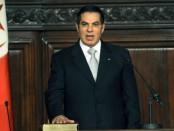 Zine el-Abidine Ben Ali, ancien président tunisien (1987-2011), est mort. Il prête ici serment, le 12 novembre 2009, devant le Parlement tunisien, pour son élection à un cinquième mandat présidentiel. © FETHI BELAID/AFP