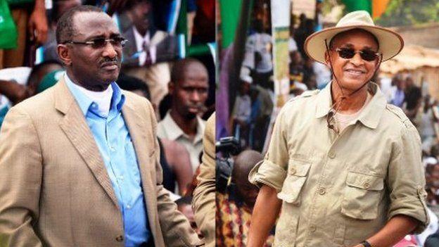 Les anciens Premiers ministres Sidya Touré et Cellou Dalein Diallo, principaux leaders de l'opposition guinéenne. Crédit photo: AFP