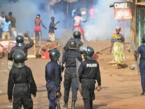 Le bilan provisoire des manifestations s'établit à trois morts par balle selon des témoins et plusieurs blessés dont un gendarme. Crédit photo: AFP