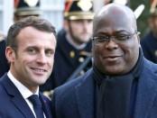 Les présidents français et congolais Macron et Tshisekedi. Crédit photo: GETTY IMAGES