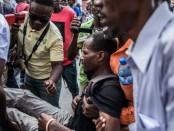 Emmanuel Joseph, journaliste à la radio Capital blessé lors de la manifestation a Port-au-Prince le 18 novembre 2019