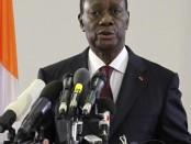 Le président Alassane Ouattara. crédit photo: RFI